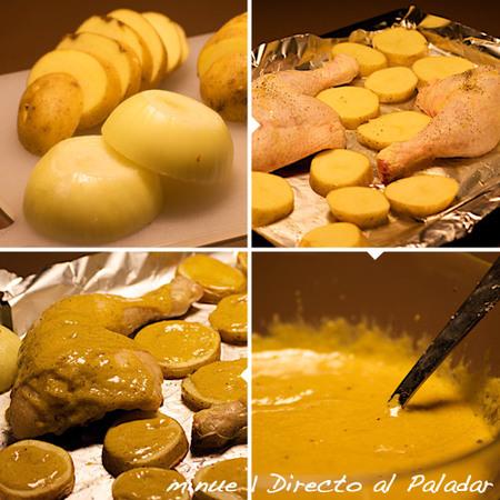 pollo a la mostaza - preparación