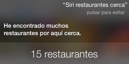 Siri Restaurantes