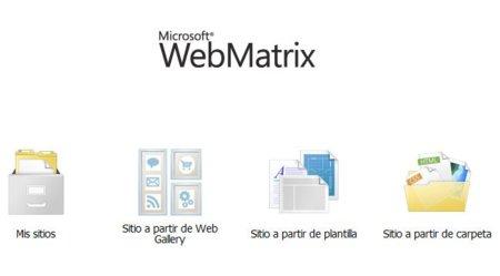 microsoft-WebMatrix-menu