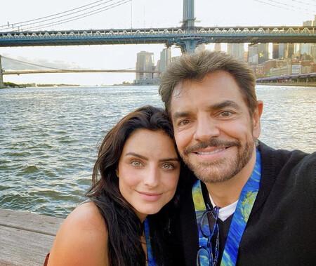 Aislinn y Eugenio Derbez pasean su belleza por las calles de Nueva York: el planazo de padre e hija que ha revolucionado Instagram