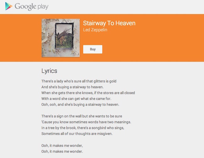 Stairway To Heaven Led Zeppelin Google Play Music