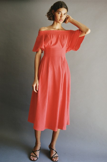 Vestido Escote Bardot Low Cost 05