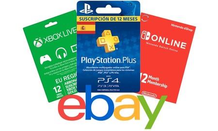 Sin esperas y a precios de locura: el cupón PDESCUENTO15 de eBay nos deja más baratas todavía las tarjetas de saldo y suscripción para PlayStation, Xbox y Nintendo