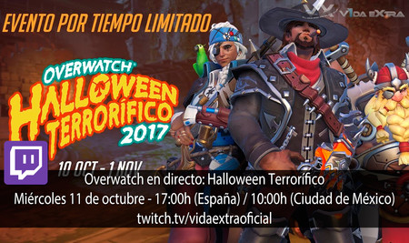 Streaming de Overwatch - Halloween Terrorífico a las 17:00h (las 10:00h en CDMX) [finalizado]