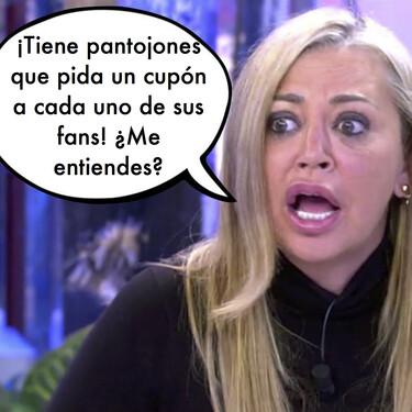 Belén Esteban lanza un mensaje en 'Sábado Deluxe' a todos los fans de Isabel Pantoja que piden préstamos e hipotecan sus casas para hacerle regalos