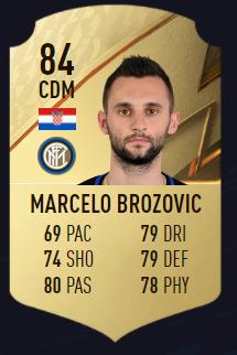 Brozovic FIFA 22 mejores centrocampistas