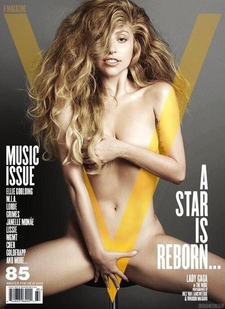 Leona por arriba, y ni un pelo de tonta por abajo. Así es Lady Gaga en la portada de V Magazine