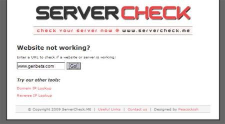 Servercheck.me, averigua si un servidor web está en funcionamiento