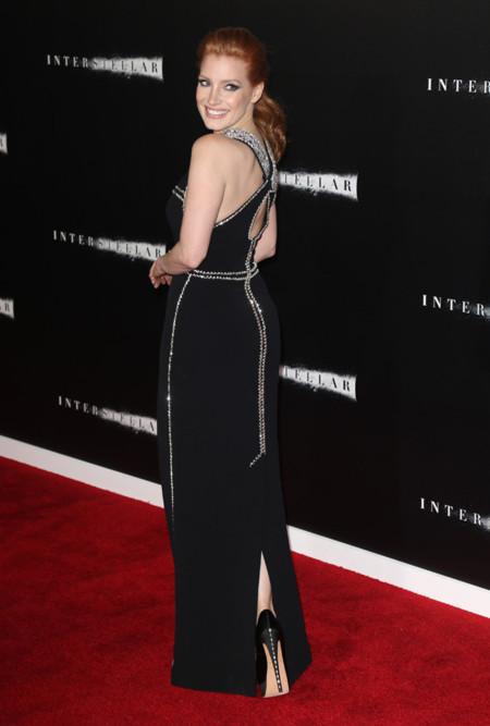 Jessica Chastain espalda interstellar