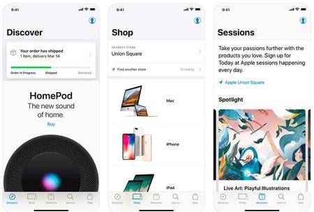 La aplicación de la Apple Store para iOS ahora cuenta con búsqueda por voz
