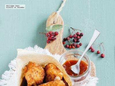 Bocadillos crujientes de pollo al coco. Receta para Navidad
