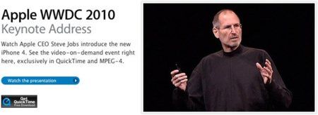 Ya está disponible el vídeo de la Keynote WWDC 2010