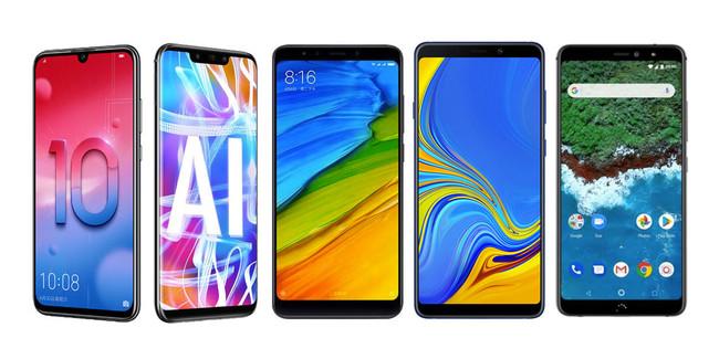 Así queda el nuevo Honor 10 Lite frente a Xiaomi Mi A2, Huawei Mate 20 Lite, Samsung Galaxy A9 2018 y bq Aquaris X2 Pro