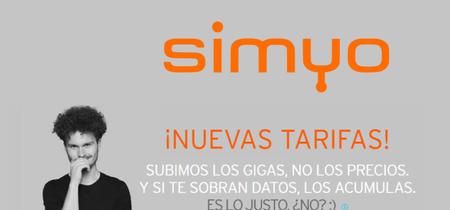 Simyo sube gigas gratis y rebaja otras cinco tarifas para hablar y navegar