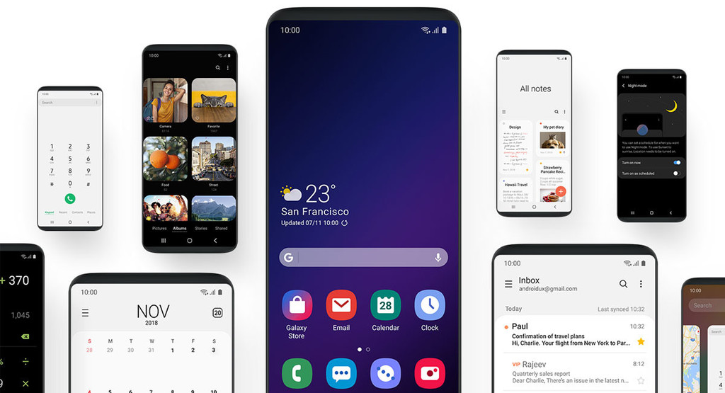 The Samsung Galaxy S9 are already receiving the update to Android 9.0 Foot with the new One UI