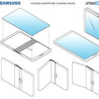 Así sería el próximo smartphone plegable de Samsung: una extraña combinación entre el Motorola RAZR y el Huawei Mate X