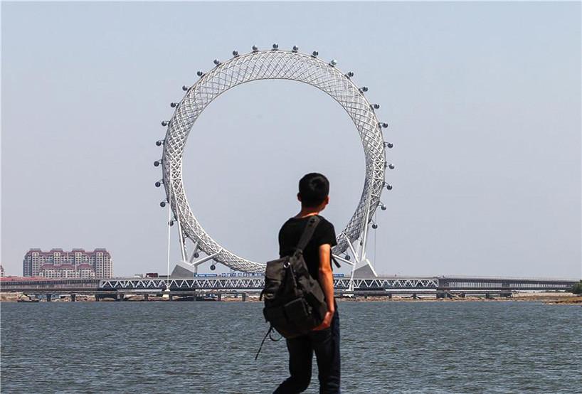 Bailang River Bridge Ferris Wheel Designboom 05 18 2017 818 001