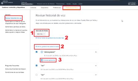 Amazon Alexa Eliminar Conversaciones Echo Mexico