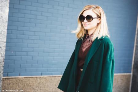 abrigo color verde