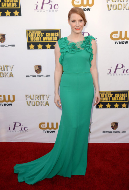 Jessica Chastain Mejores Critics Choice Awards 2014