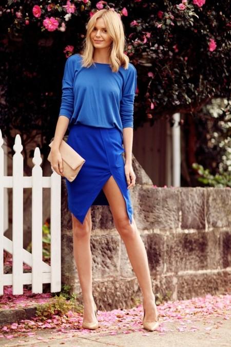 falda azul