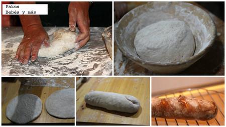 panes con niños proceso