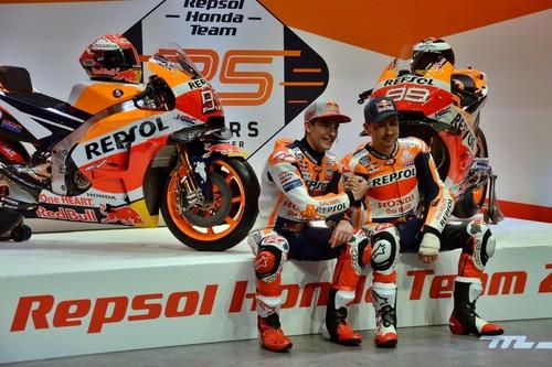 Las lesiones de Jorge Lorenzo y Marc Márquez, protagonistas en la presentación del Repsol Honda de MotoGP