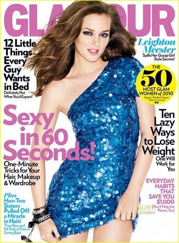 Leighton Meester, Zoe Saldana y Amanda Seyfried en la revista Glamour