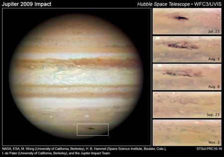 Impacto de un asteroide en Júpiter (2009)