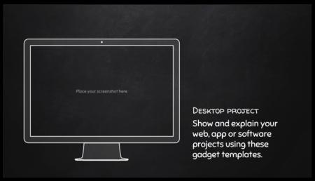 Free Presentation Template Blackboard Style