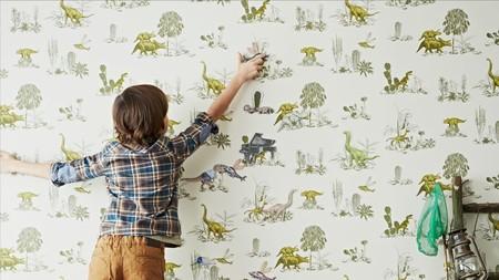 ¡Nos encanta! Un papel infantil pintado magnético para que los peques puedan jugar
