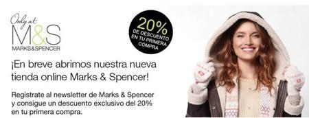 Marks & Spencer abre tienda online para España, aprovéchate del 20% de descuento