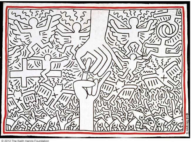 Resultado de imagen de keith haring obras