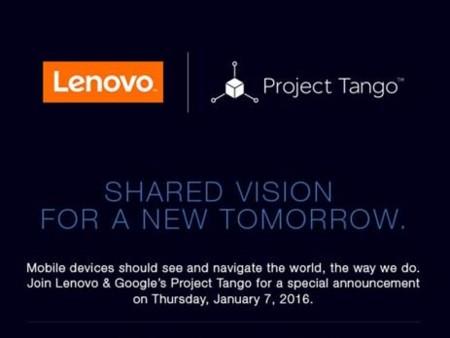 Lenovo y Google tienen algo que enseñarnos el próximo día 7 de enero relacionado con Project Tango