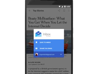 Inbox by Gmail ahora te permite guardar artículos para leerlos más tarde a lo Pocket