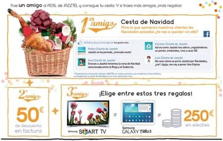 Vuelve el Plan Amigo de Jazztel con hasta 250 euros en metálico por tres nuevos clientes