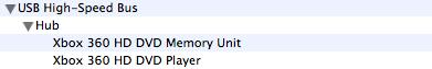 La unidad HD-DVD de la XBox 360 es compatible con Mac OS X