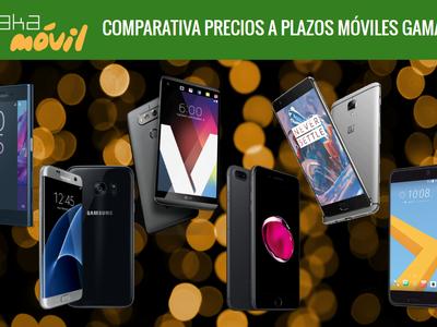 Smartphones de gama alta: comparativa de precios definitivos con pago a plazos en operadores móviles