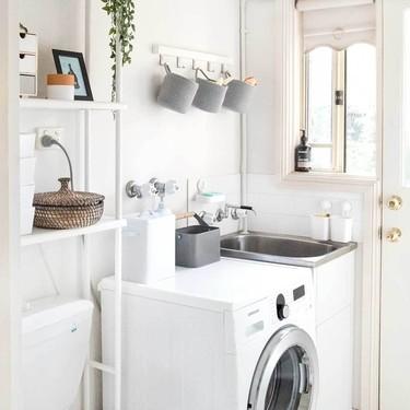 Antes y después: una zona de lavado muy bien organizada