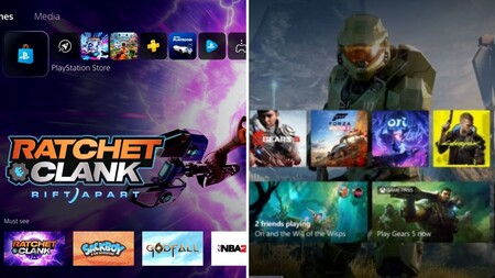 Xbox Series X y Playstation 5 muestran sus nuevas interfaces: así van a van a dar la cara las consolas de Sony y Microsoft