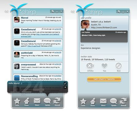 *Chirp, un impresionante cliente Twitter para Windows Vista/7