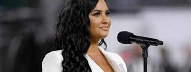 Demi Lovato cumple su sueño y canta el himno nacional de Estados Unidos en la Super Bowl 2020 apostando por el color blanco como hizo en los Grammy