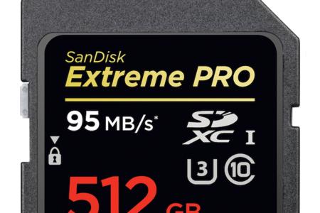 SanDisk ya tiene lista su tarjeta SD de 512 GB pensada para almacenar contenido 4K (UHD)