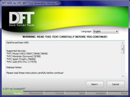 DFT abre la puerta al mundo de las ROMS personalizadas en Windows Phone 7