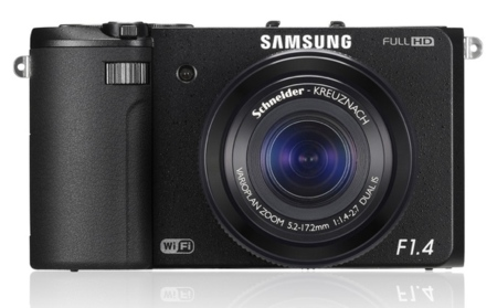 Samsung EX2F con lente