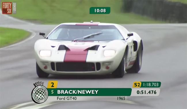 Así se conduce un Ford GT 40 en mojado: sólo en el Goodwood Revival
