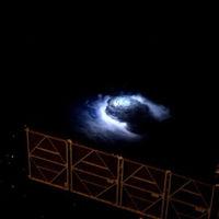 Gracias a la ISS por primera vez hemos grabado chorros azules