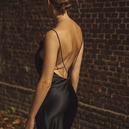 Vestido Lencero Negro 15