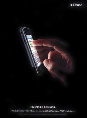 El anuncio impreso del iPhone y los parecidos razonables