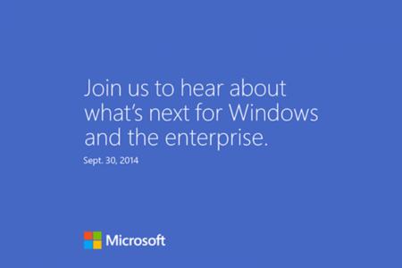 Microsoft anuncia evento para el 30 de septiembre ¿veremos Windows 9?